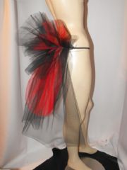 Mini Black & Red Net Bustle